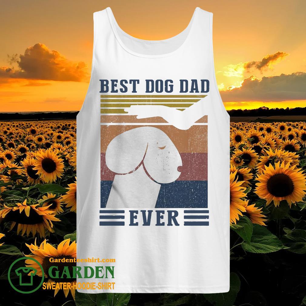 Best Dog Dad Ever Vintage tank top