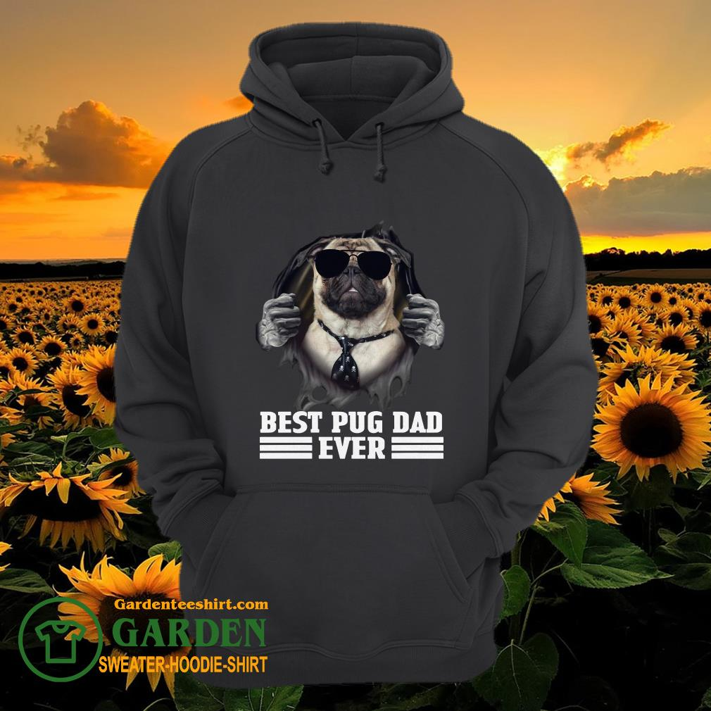 Blood Inside Me Best Pug Dad Ever hoodie