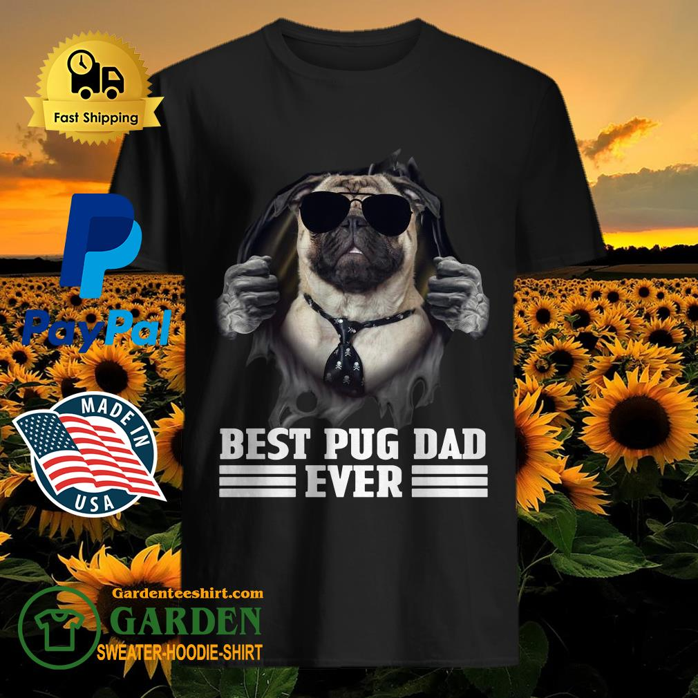Blood Inside Me Best Pug Dad Ever Shirt