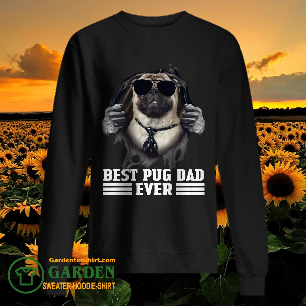 Blood Inside Me Best Pug Dad Ever sweater