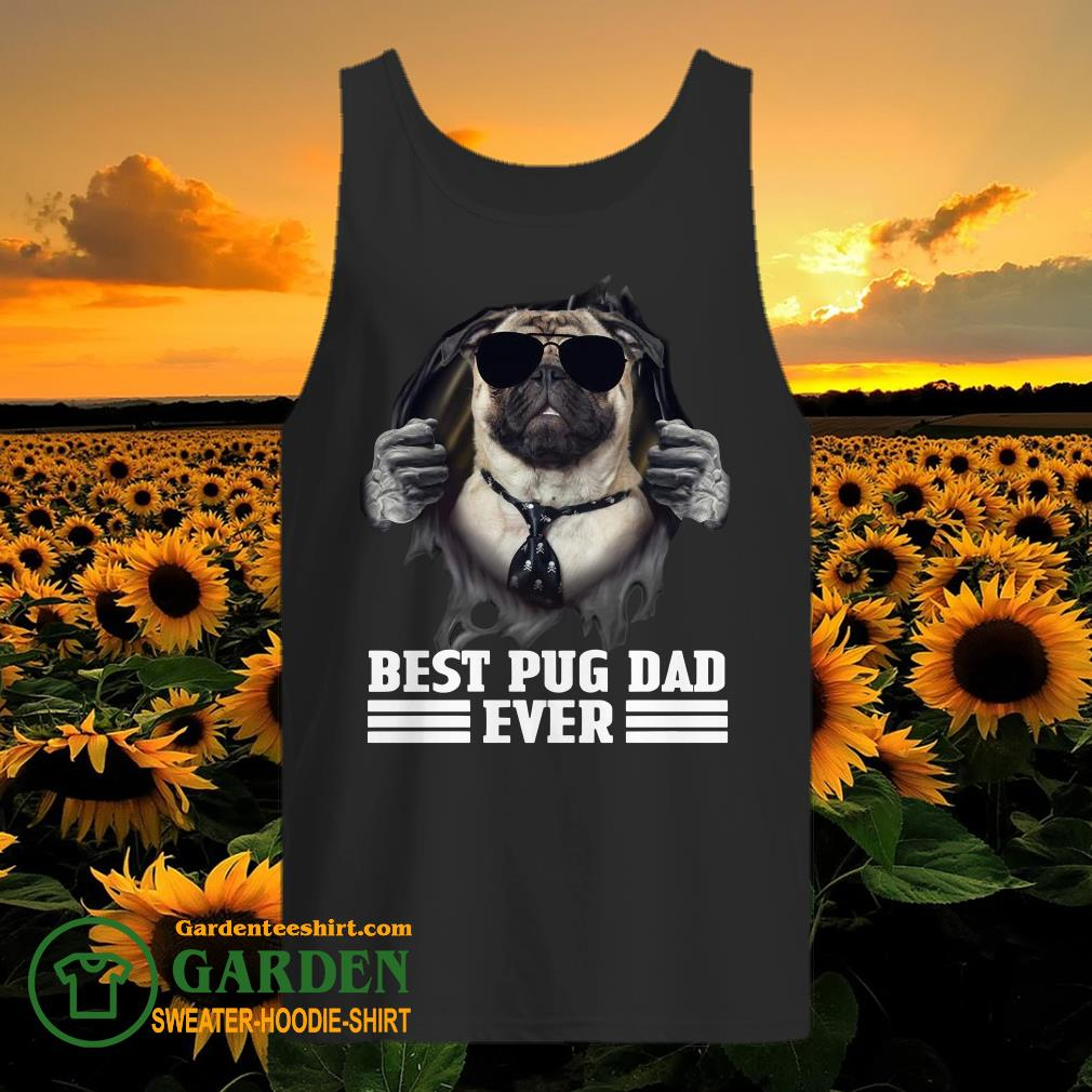 Blood Inside Me Best Pug Dad Ever tank top