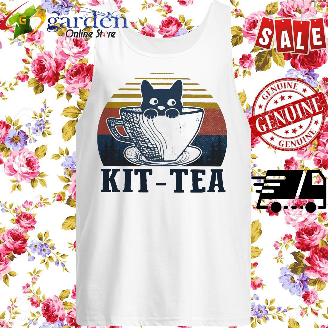 Cat Kit – tea vintage tank top