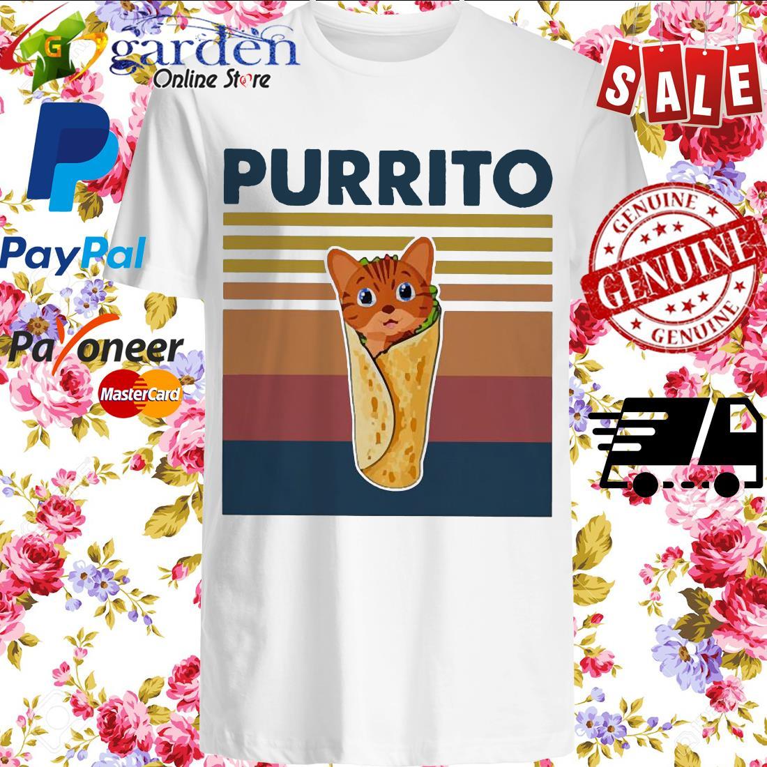 Cat Purrito vintage shirt