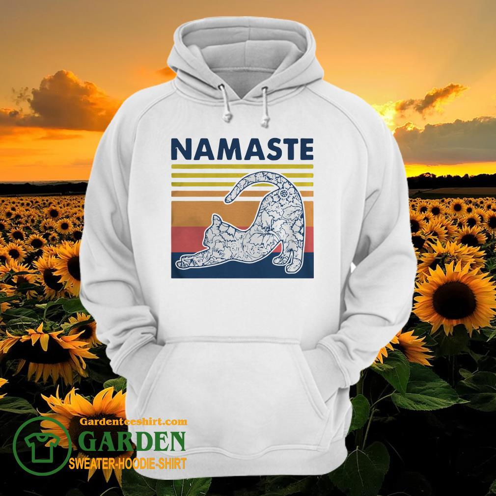 Cat Yoga Namaste Vintage hoodie