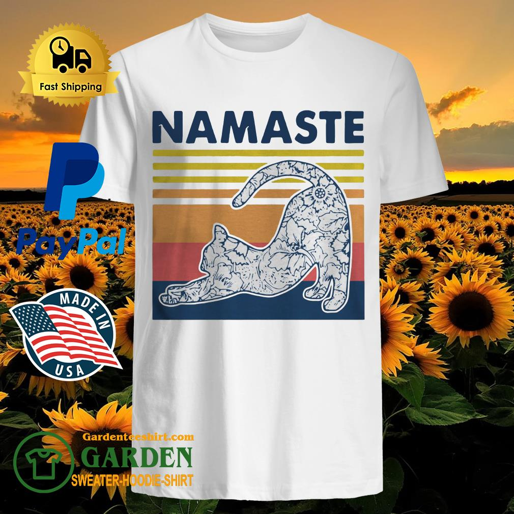 Cat Yoga Namaste Vintage shirt