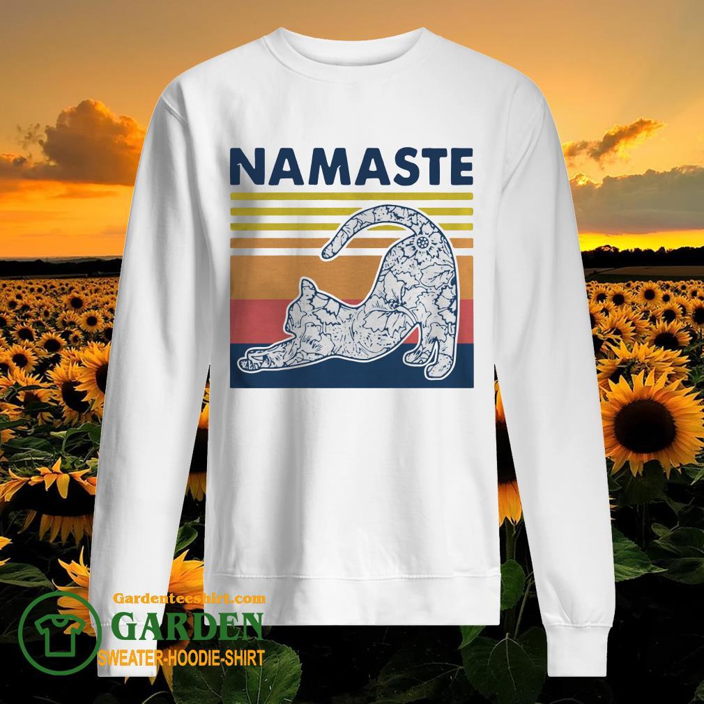 Cat Yoga Namaste Vintage sweater