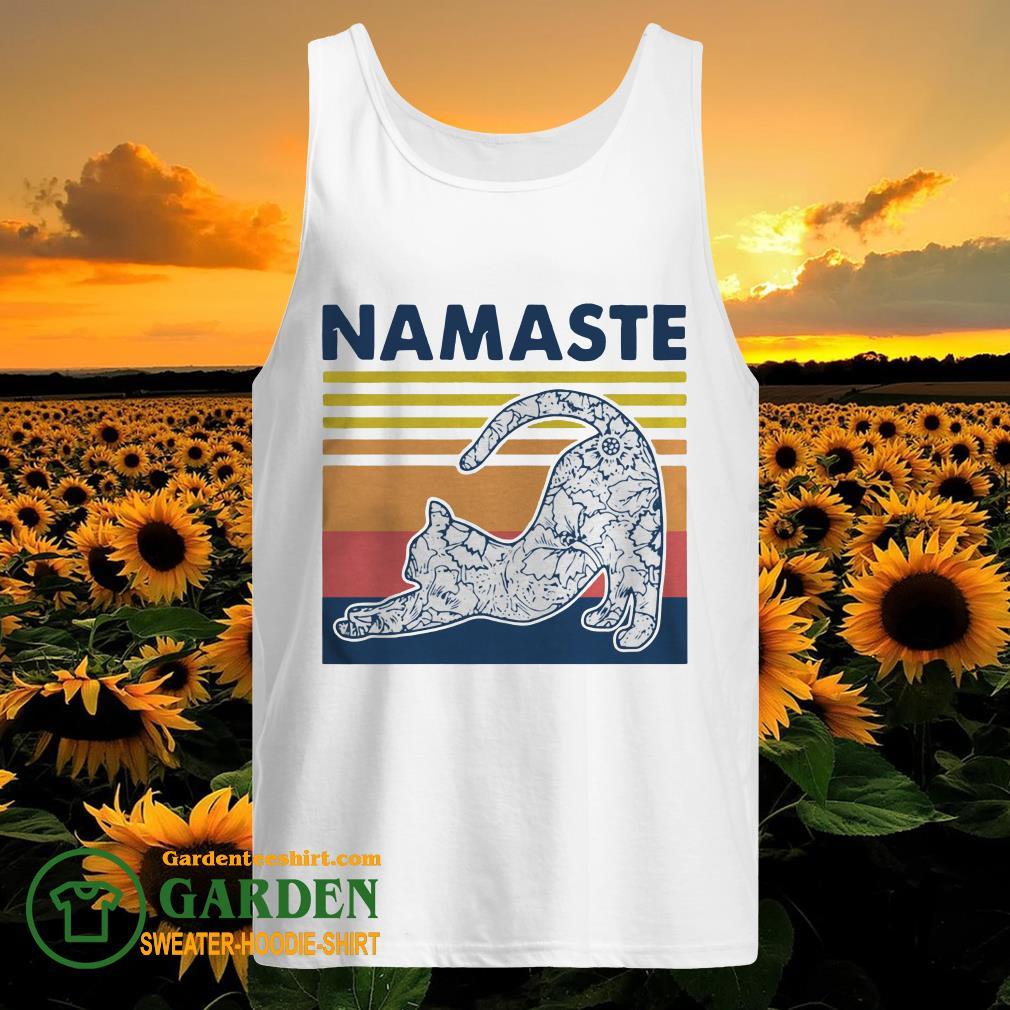 Cat Yoga Namaste Vintage tank top