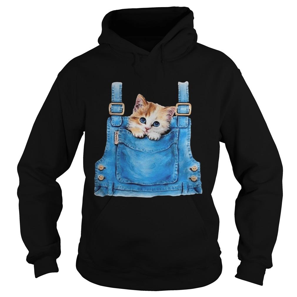 Cute cat in pocket  Hoodie