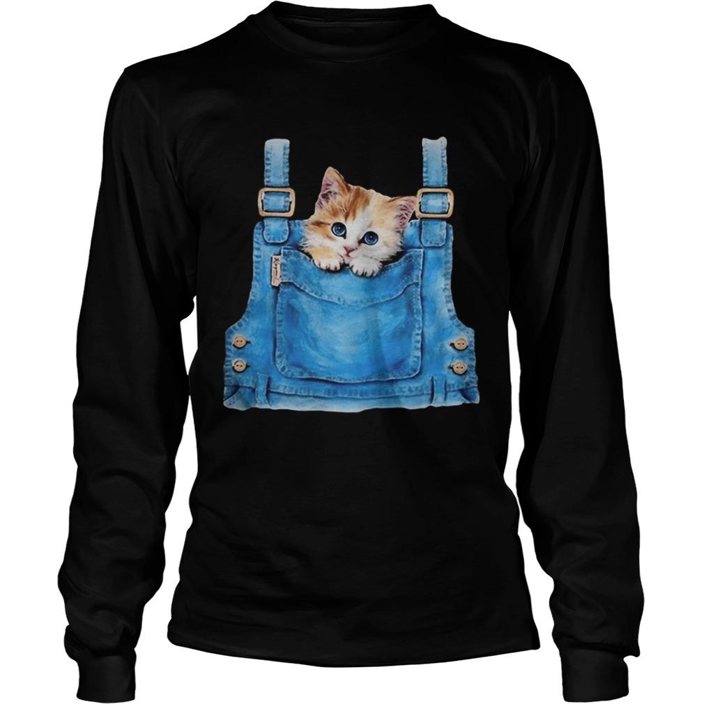 Cute cat in pocket  Long Sleeve