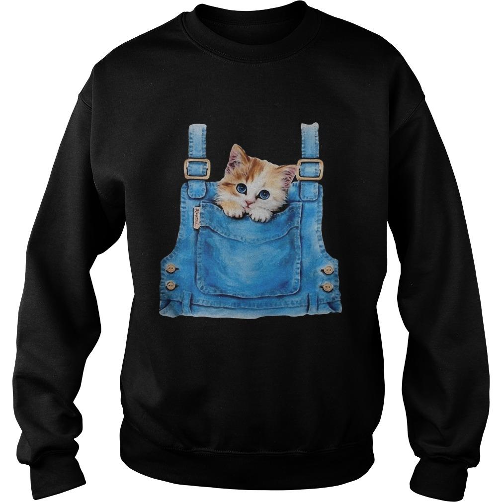 Cute cat in pocket  Sweatshirt