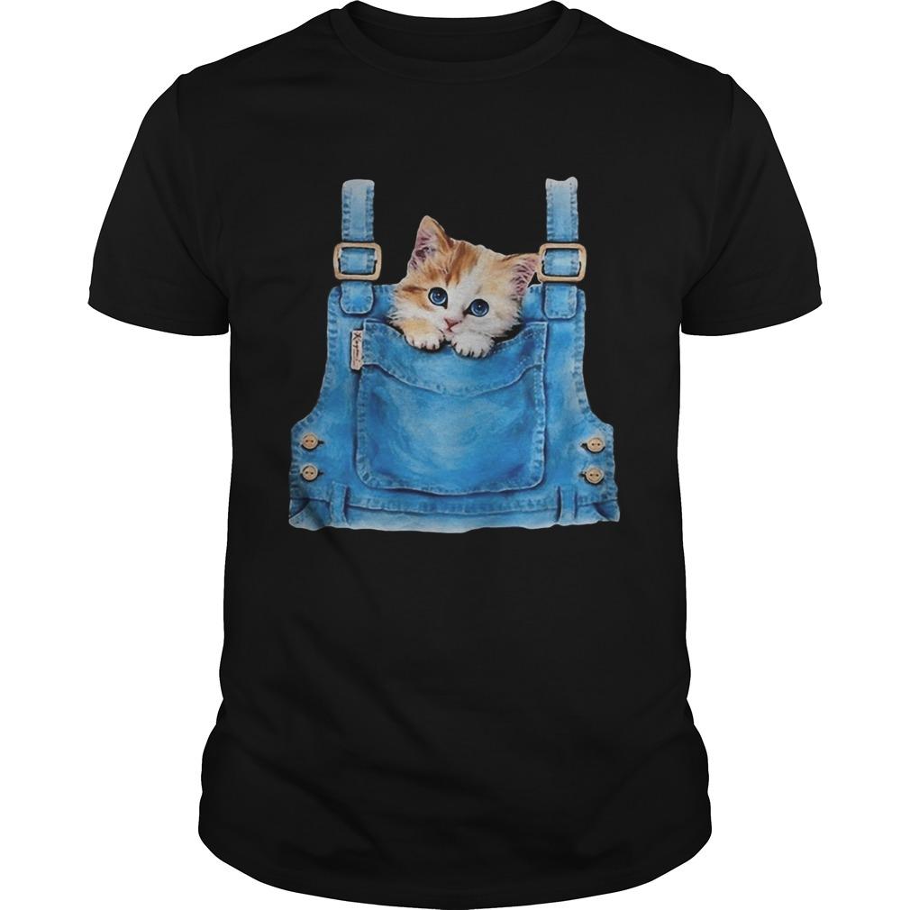 Cute cat in pocket  Unisex