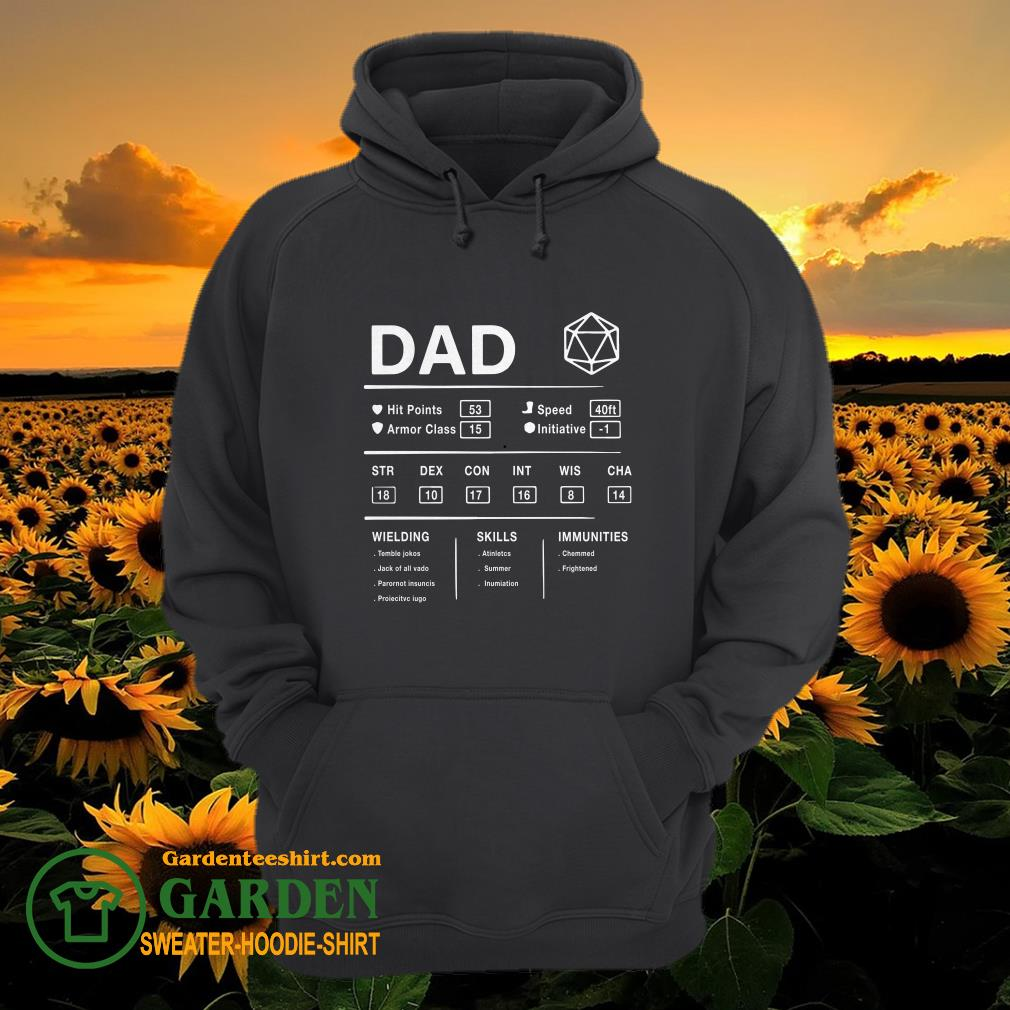 Dad Hit Points Speed Armor Class Initiative Wielding hoodie