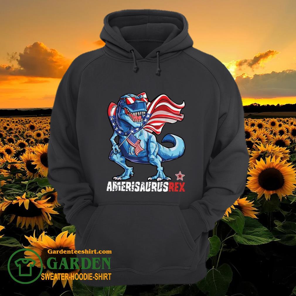 Dinosaur American Flag 4th of July hoodie