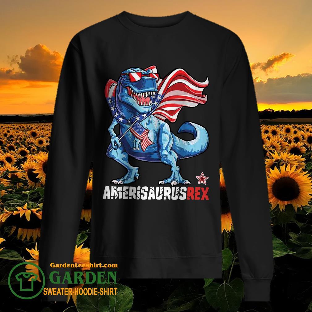 Dinosaur American Flag 4th of July sweater