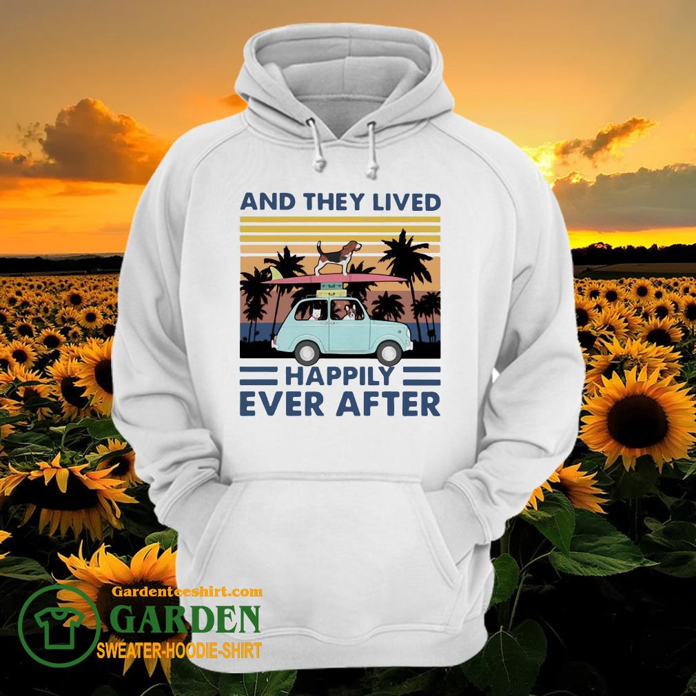 Dogs And They Lived Happily Ever After Vintage hoodie