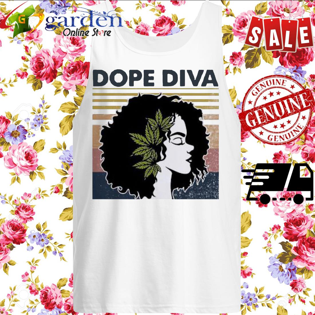 Dope Diva Black Girl Vintage tank top