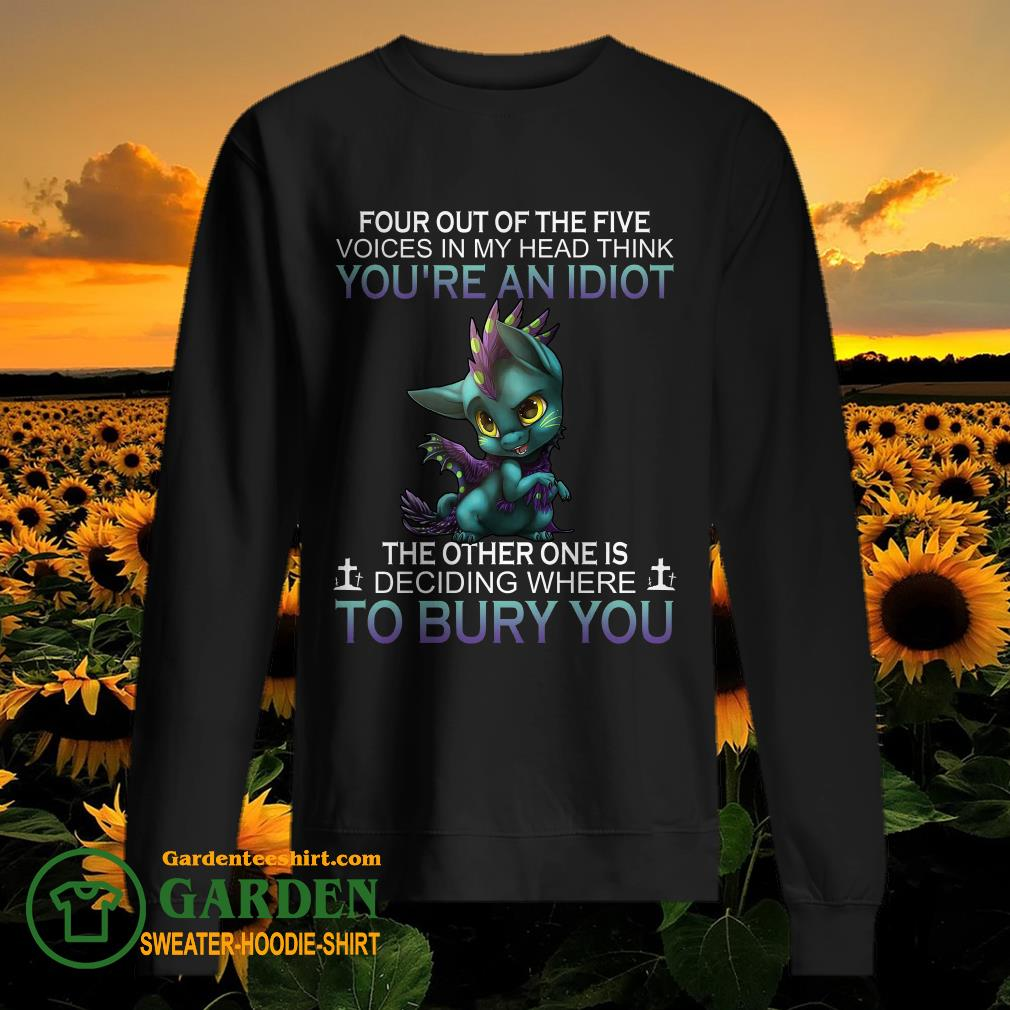 Dragon Four out of the five voices in my head think you're an idiot the other one is deciding sweater