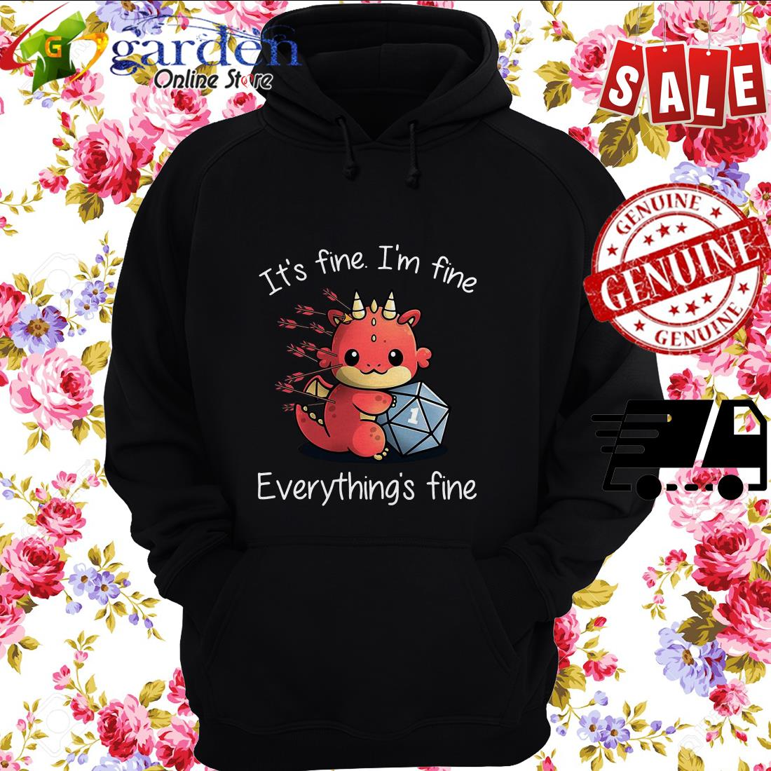 Dungeons Dragons It's Fine I'm Fine Everything's Fine hoodie