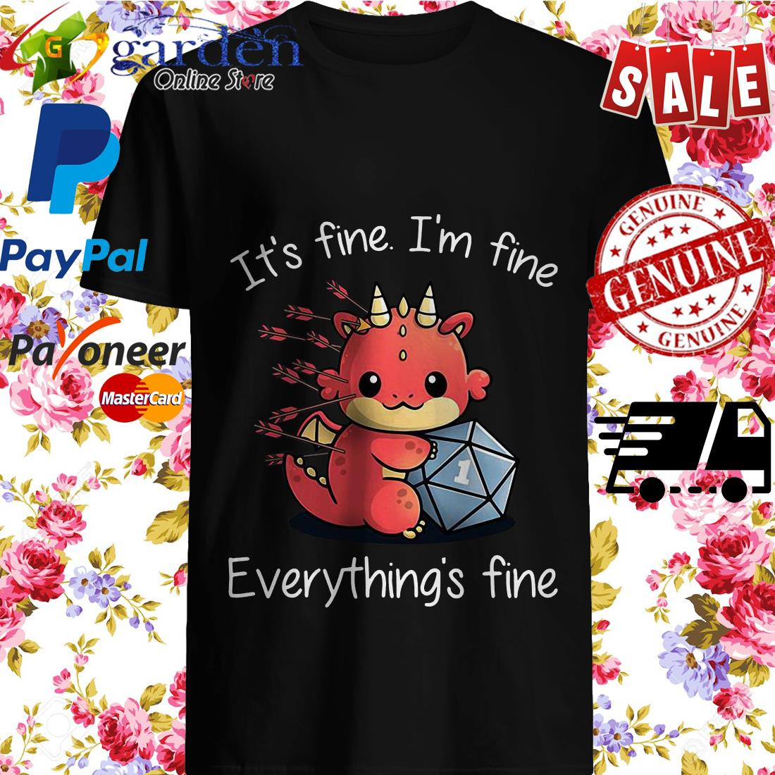 Dungeons Dragons It's Fine I'm Fine Everything's Fine Shirt