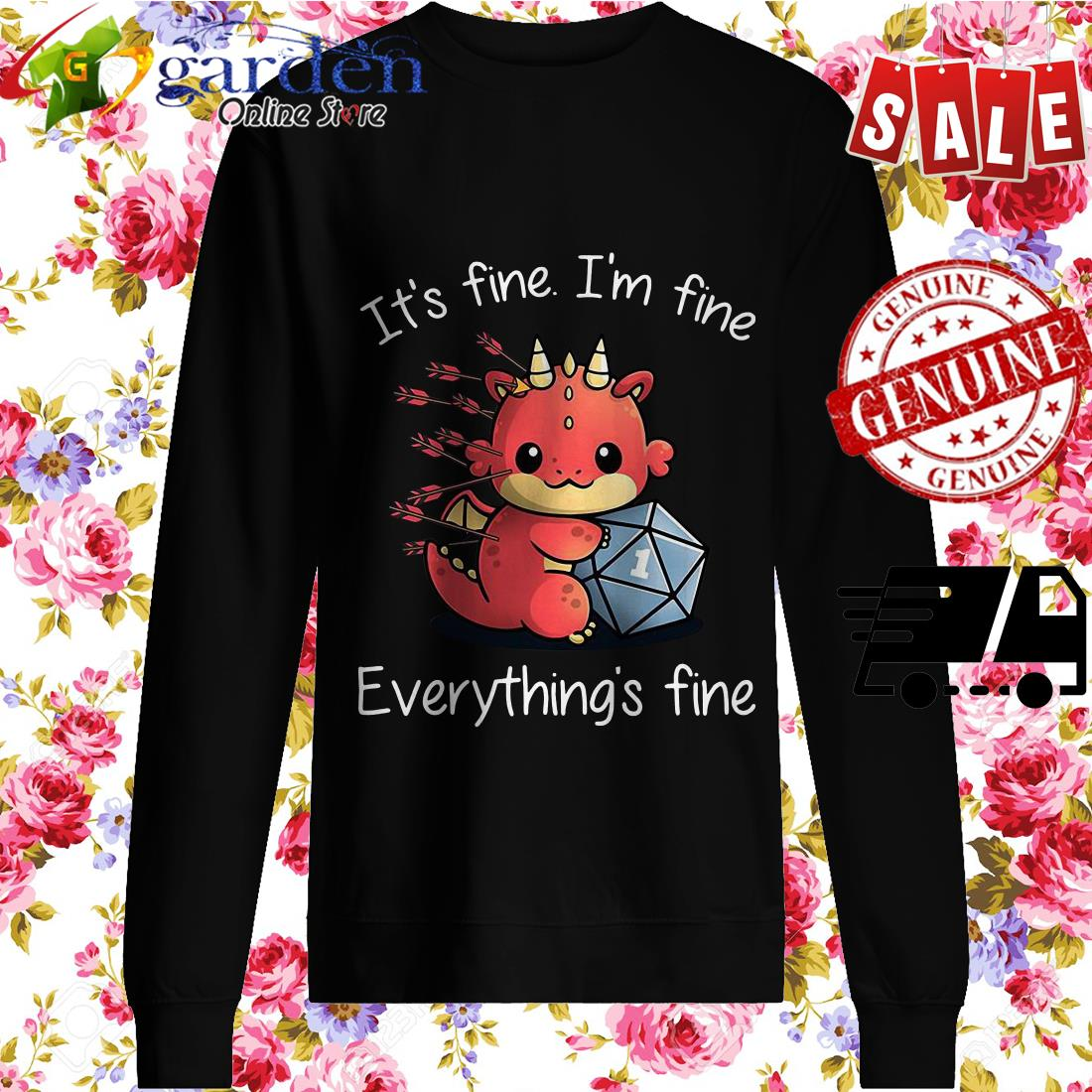 Dungeons Dragons It's Fine I'm Fine Everything's Fine sweater