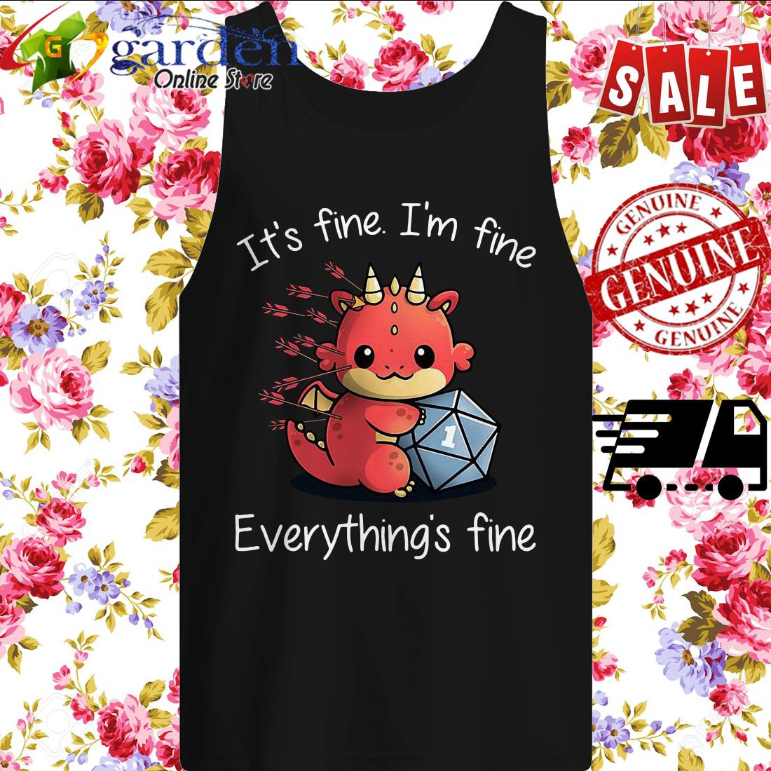 Dungeons Dragons It's Fine I'm Fine Everything's Fine tank top
