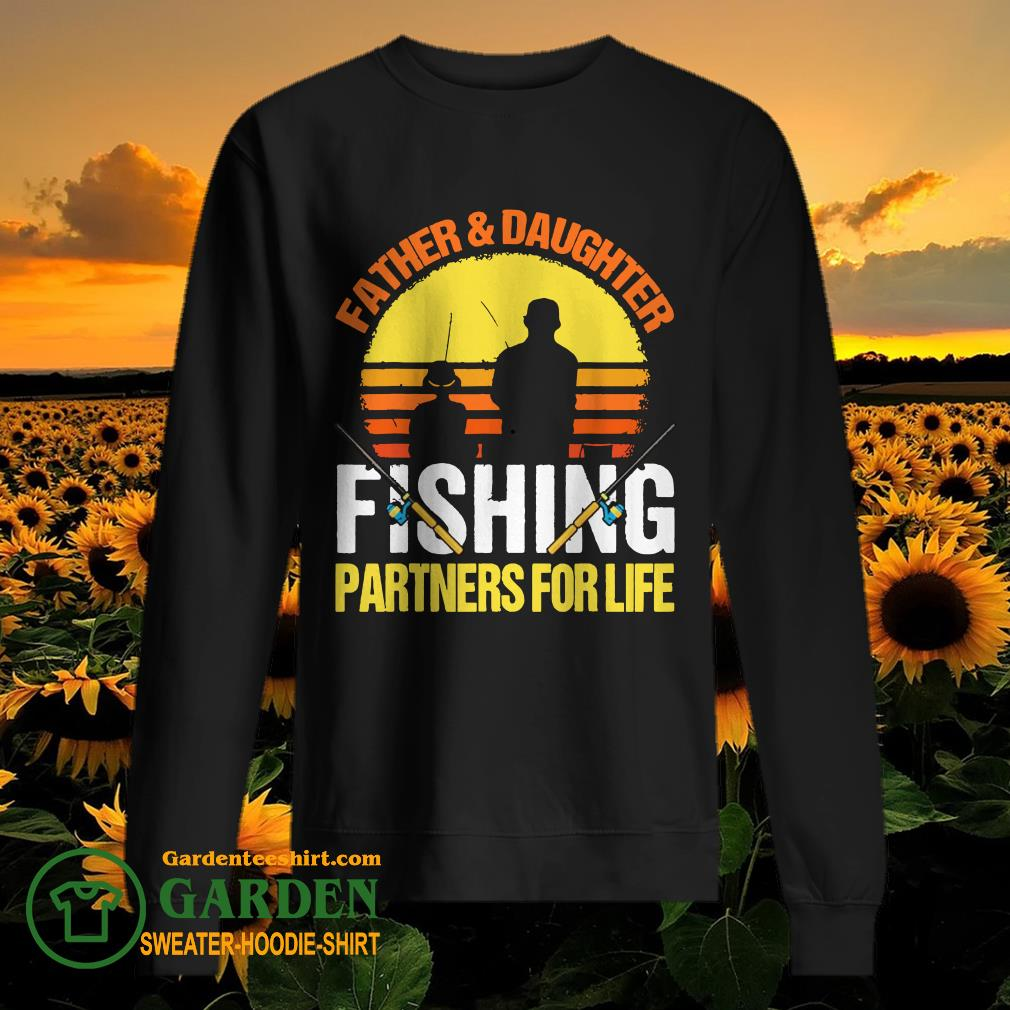 Father Daughter Fishing partners for life vintage sweater