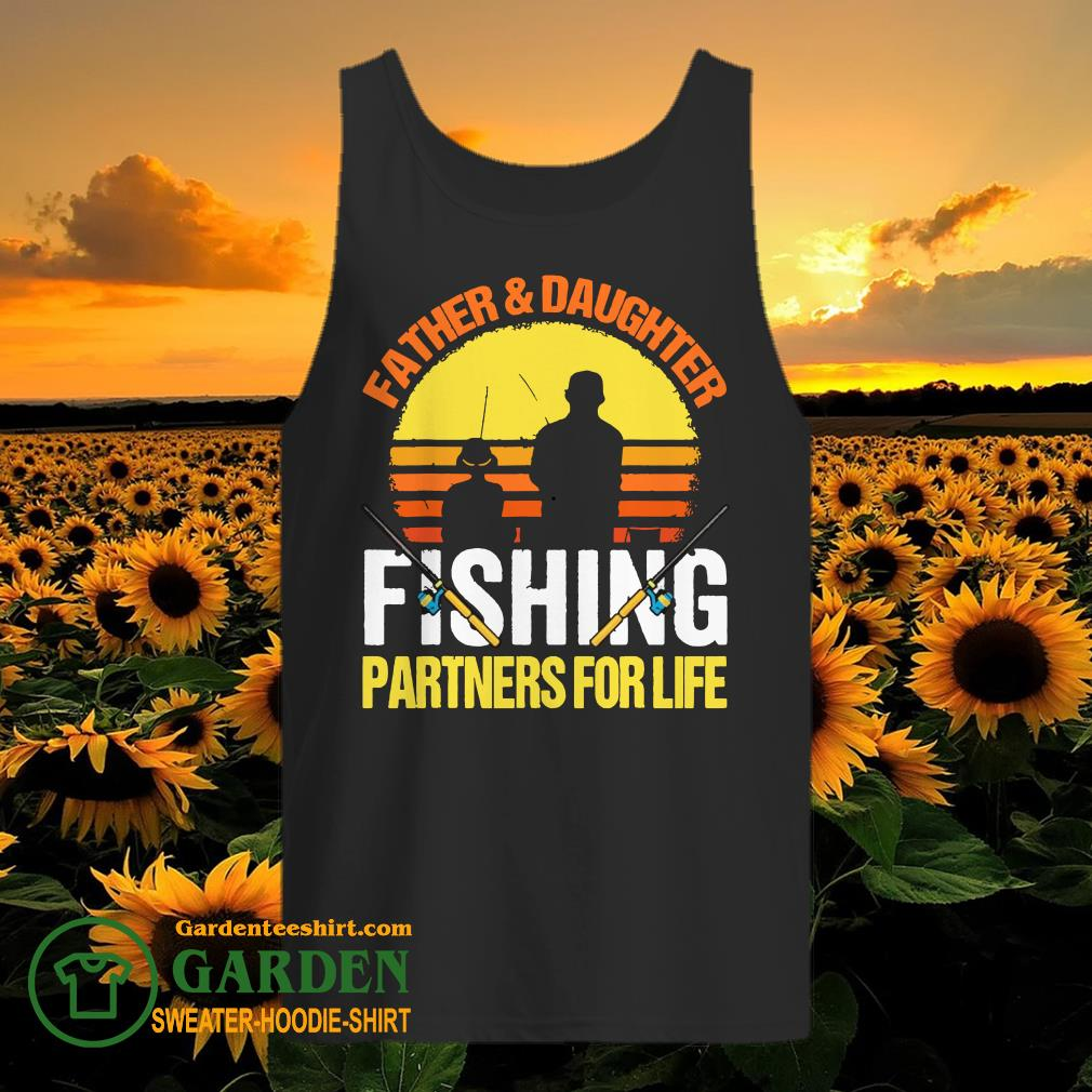 Father Daughter Fishing partners for life vintage tank top