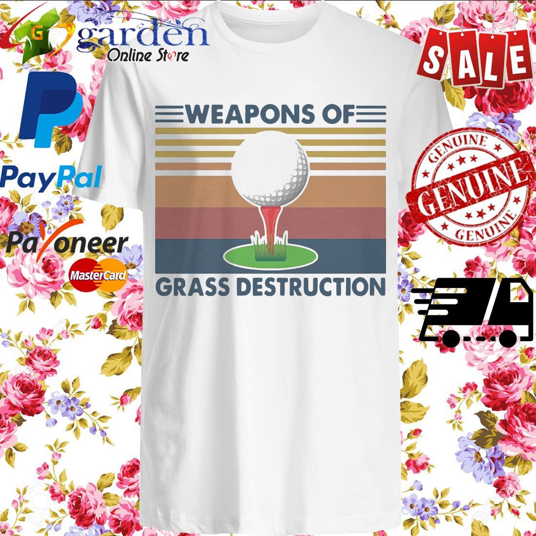Golf Weapons Of Grass Destruction Vintage shirt