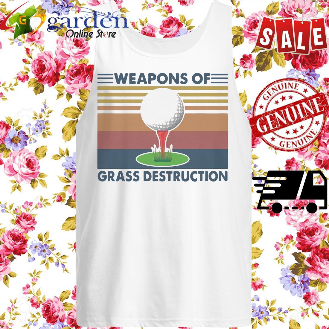 Golf Weapons Of Grass Destruction Vintage tank top