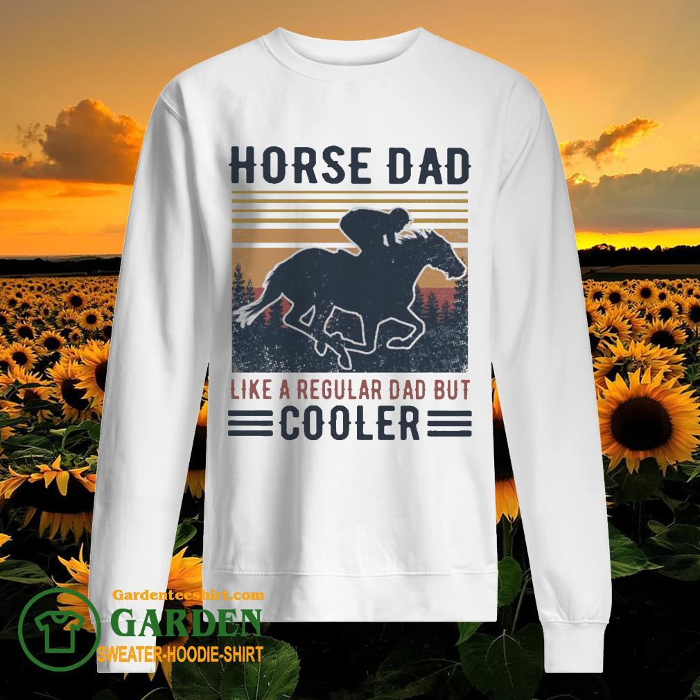 Horse Dad like a regular Dad but Cooler vintage sweater