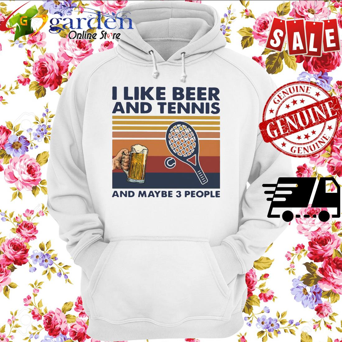 I Like Beer And My Bicycle And Maybe 3 People Vintage hoodie