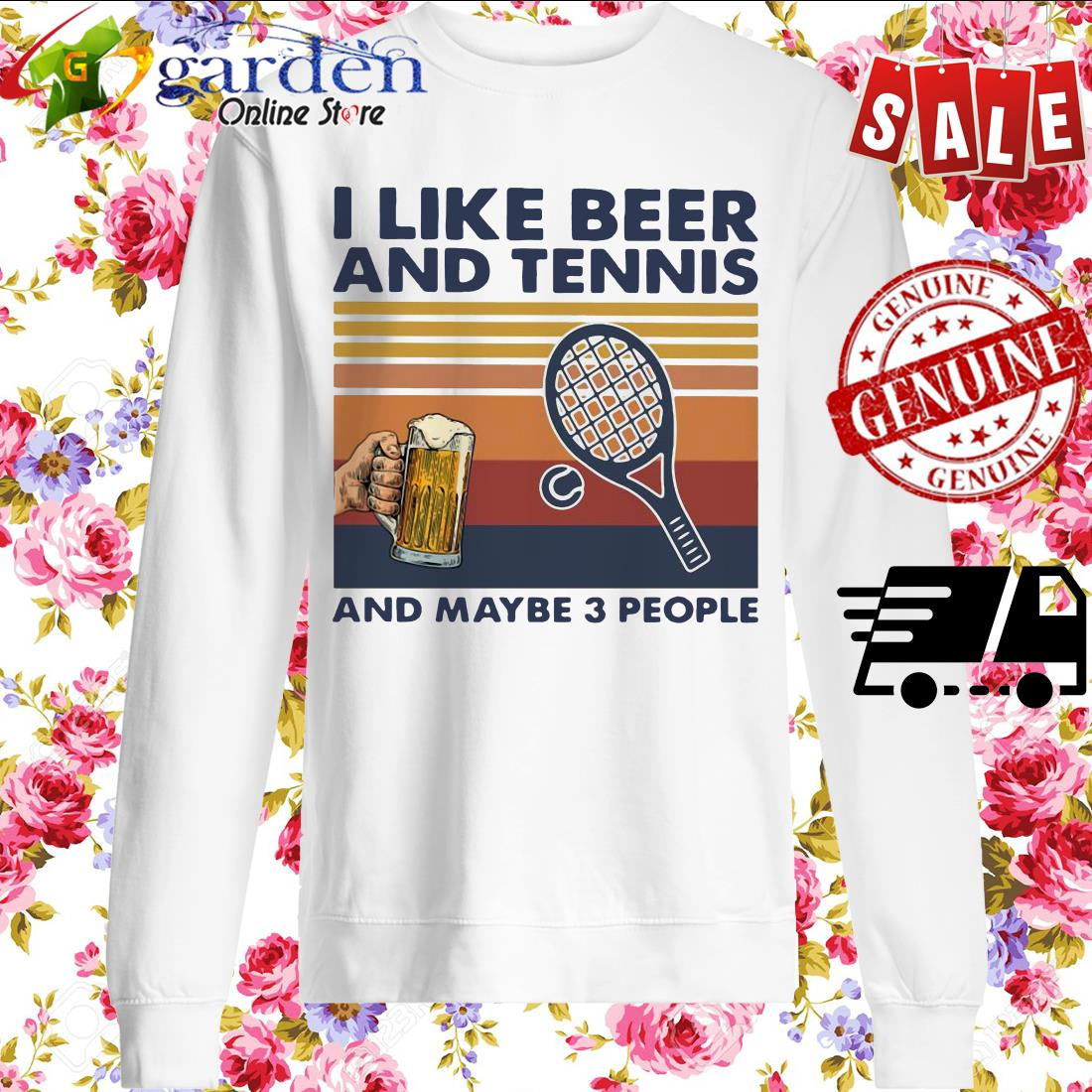 I Like Beer And My Bicycle And Maybe 3 People Vintage sweater