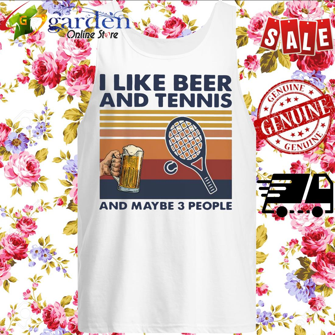 I Like Beer And My Bicycle And Maybe 3 People Vintage tank top