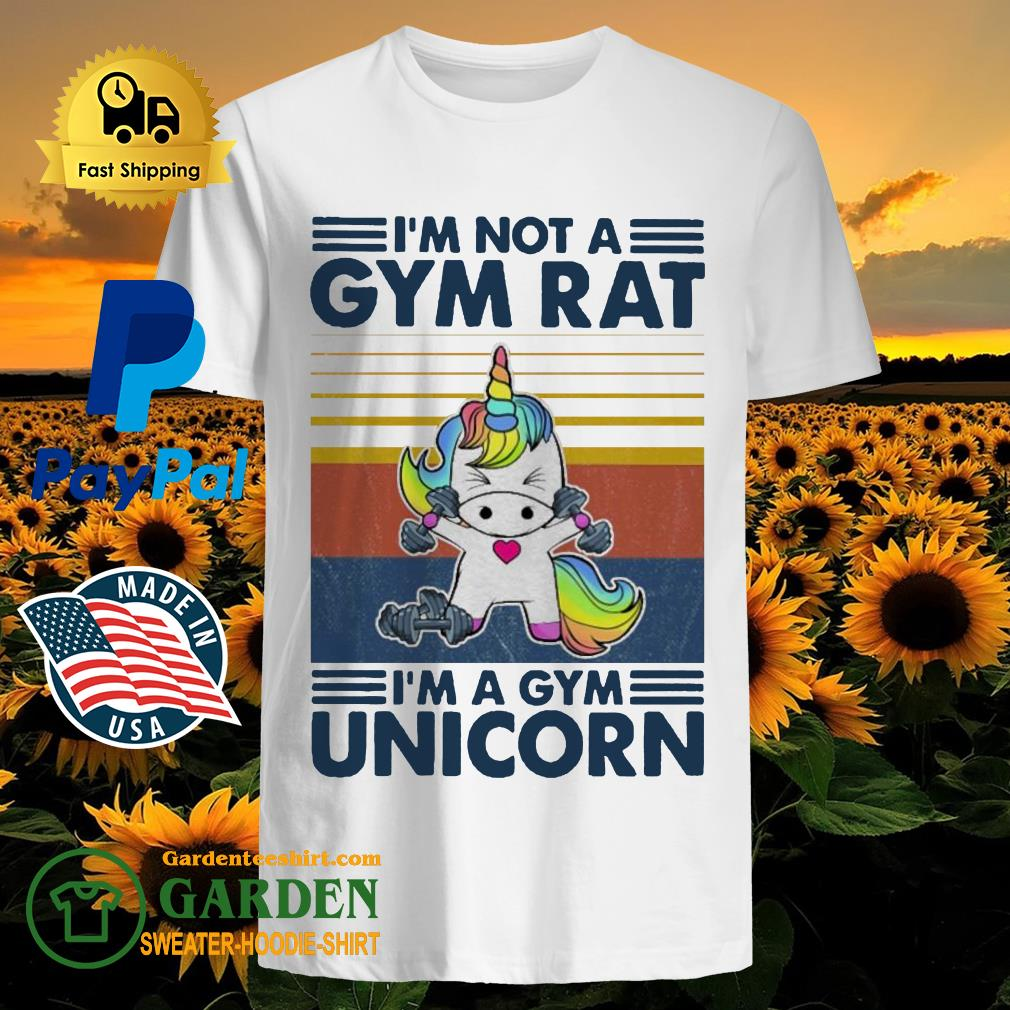 I'm not a GYM rat I'm a Gym Unicorn vintage shirt