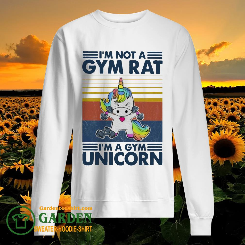 I'm not a GYM rat I'm a Gym Unicorn vintage sweater