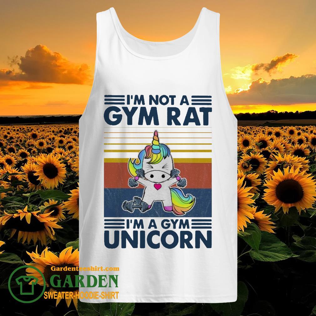 I'm not a GYM rat I'm a Gym Unicorn vintage tank top