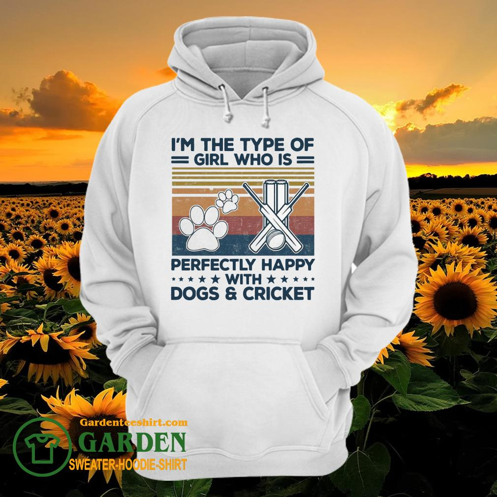 I'm the type of girl who is perfectly happy with dogs and Criket paw vintage hoodie