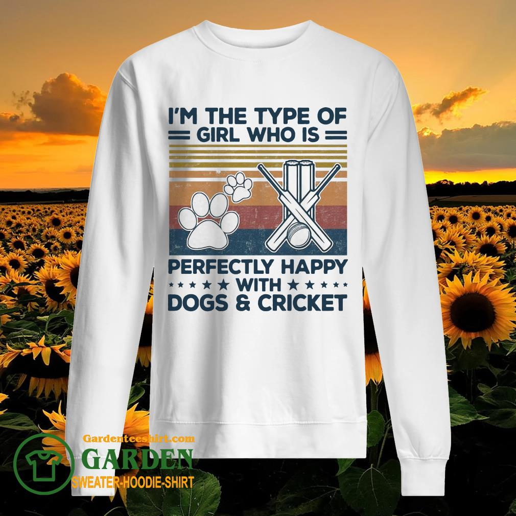 I'm the type of girl who is perfectly happy with dogs and Criket paw vintage sweater
