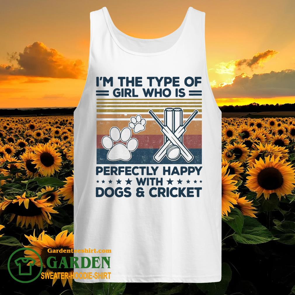I'm the type of girl who is perfectly happy with dogs and Criket paw vintage tank top