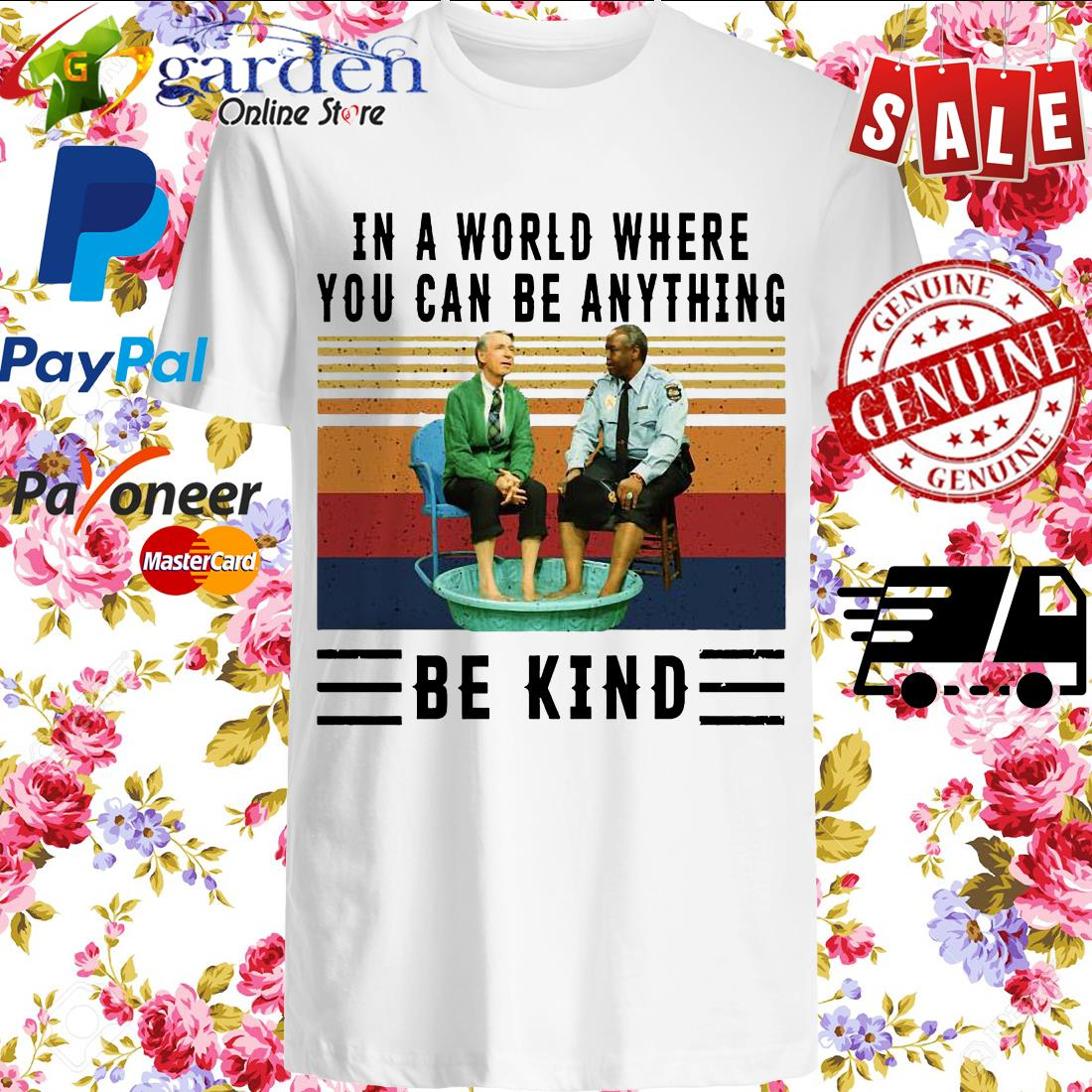 In a world where you can be anything be kind Kiddie Pool and Mr. Rogers vintage shirt