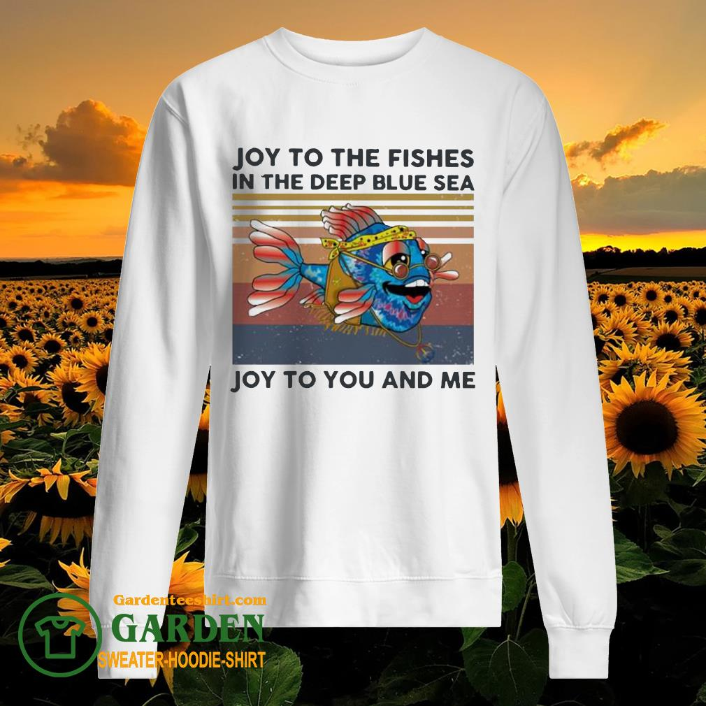 Joy to the fishes in the deep blue sea Joy to you and me vintage sweater