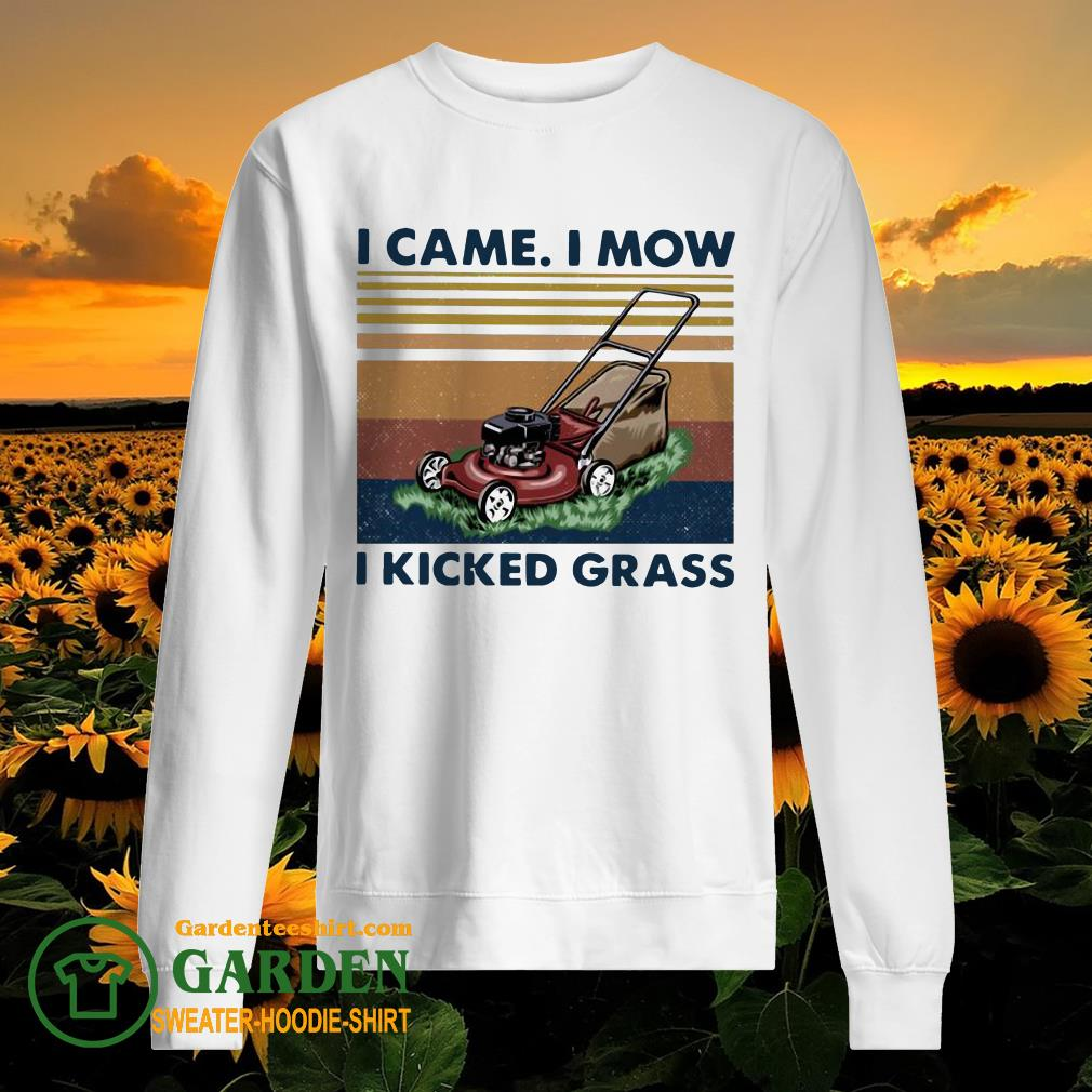 Lawn Mower I Came I Mow I Kicked Grass Vintage sweater