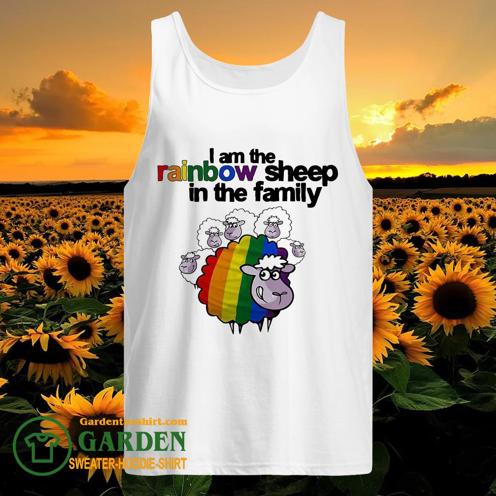 Lgbt I am the rainbow sheep in the family tank top