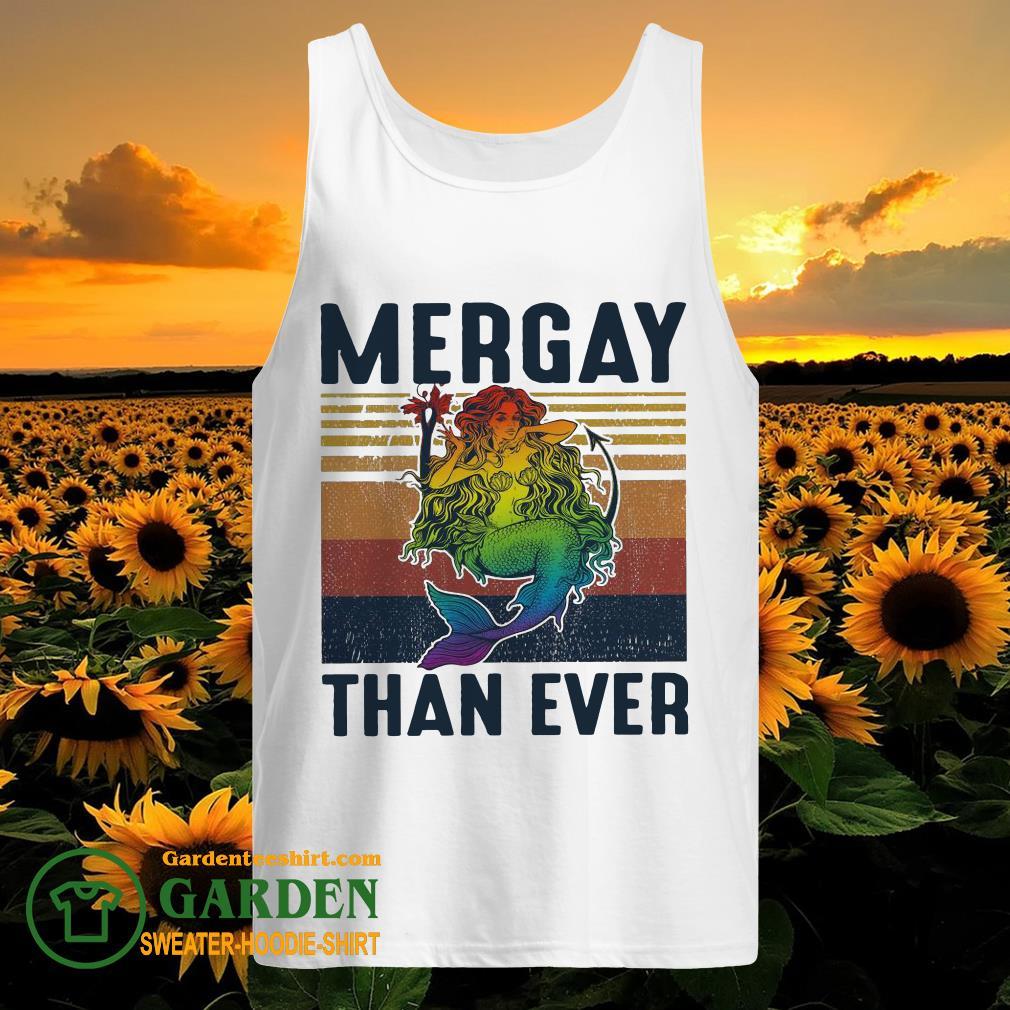 LGBT Mermaid Mergay than ever vintage tank top
