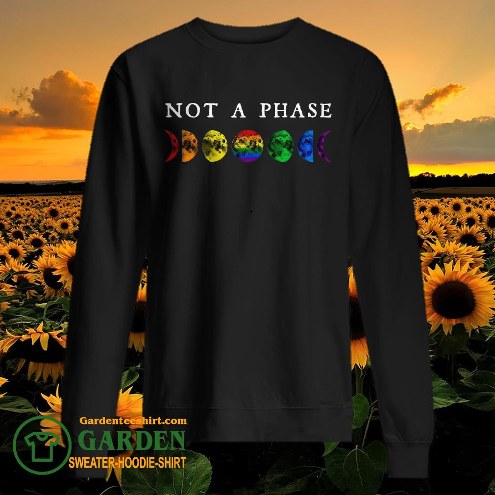 LGBT moon phase not a phase sweater