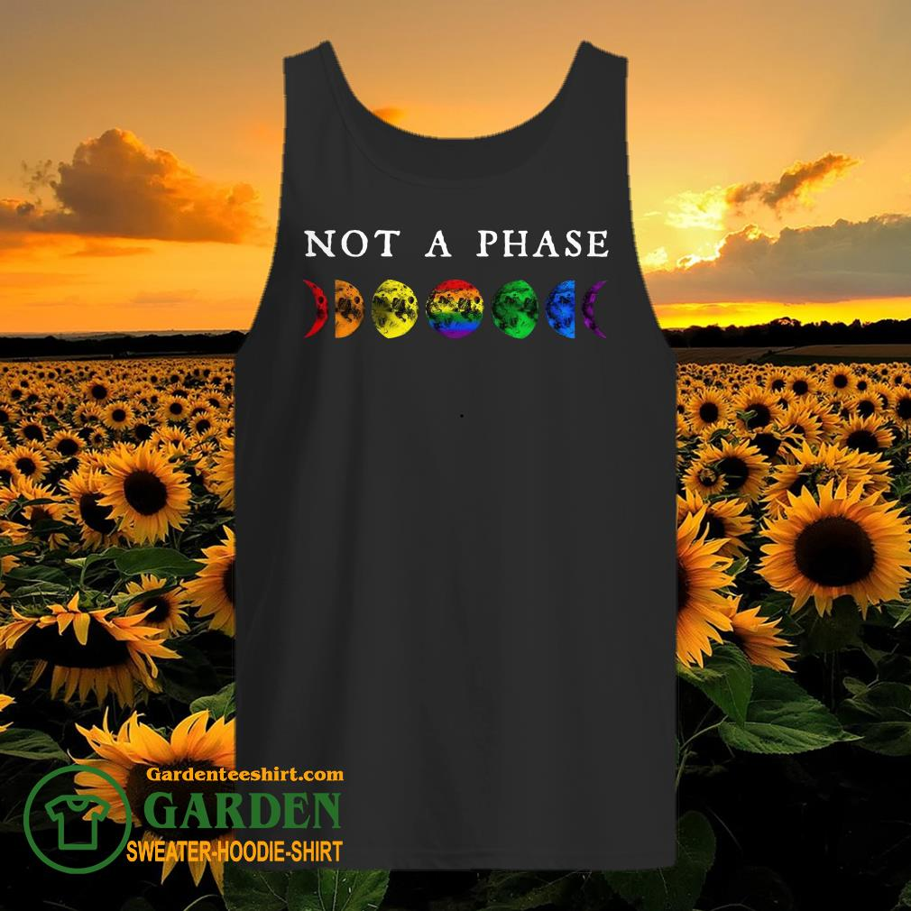LGBT moon phase not a phase tank top