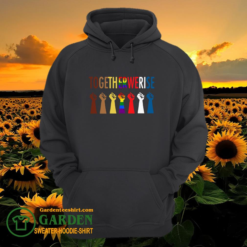 LGBT Strong Hand Together We Rise hoodie