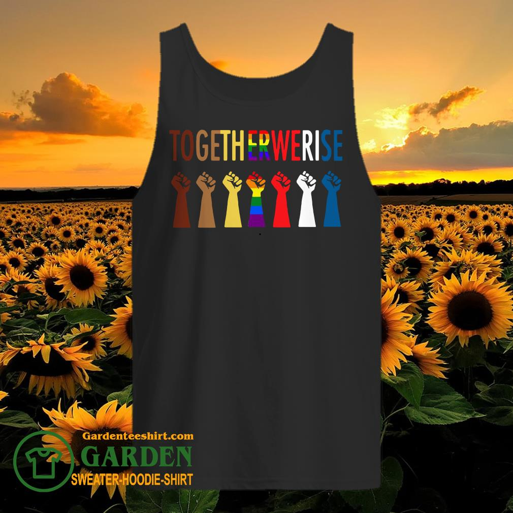 LGBT Strong Hand Together We Rise tank top