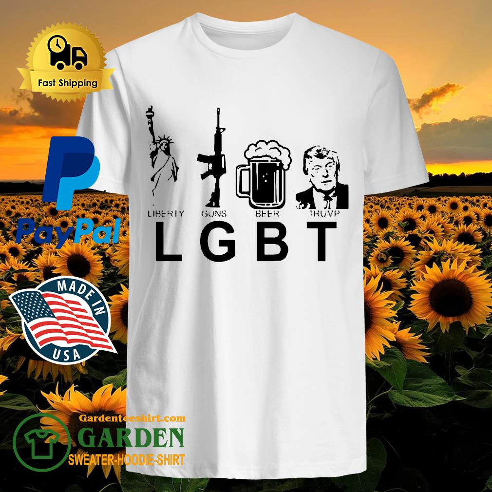 Liberty guns beer trump shirt