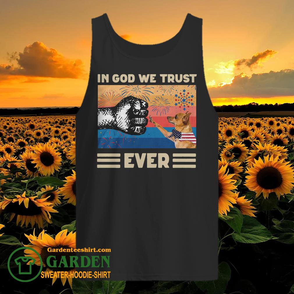 Miniature Pinscher Dog In God We Trust Ever American Flag Independence Day Vintage tank top